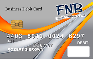 Business Debit Card sample from FNB