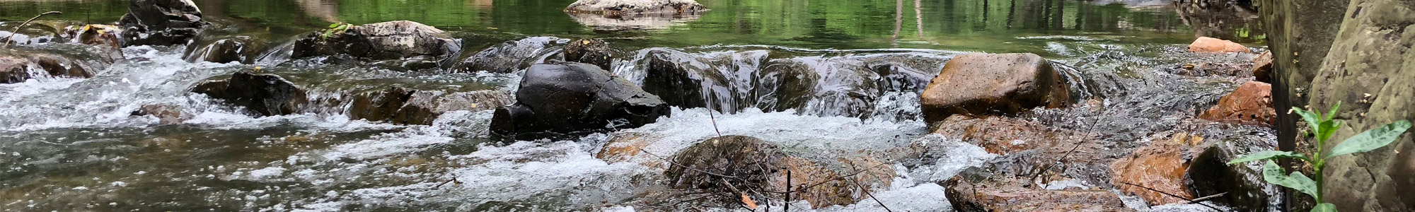 creekwater rushing over rocks